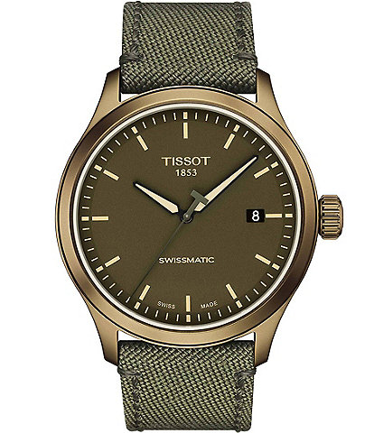 Tissot Gent XL Swissmatic Green Strap Watch