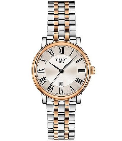 Tissot Ladies Carson Premium Two Tone Rose Gold Bracelet Watch