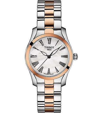 Tissot Ladies T-Wave Two Tone Stainless Steel Bracelet Watch