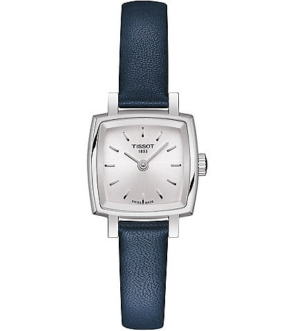 Tissot Lovely Blue Leather Strap Square Watch