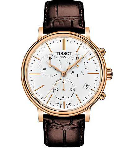 Tissot Men's Carson Premium Rose Gold Chronograph Watch