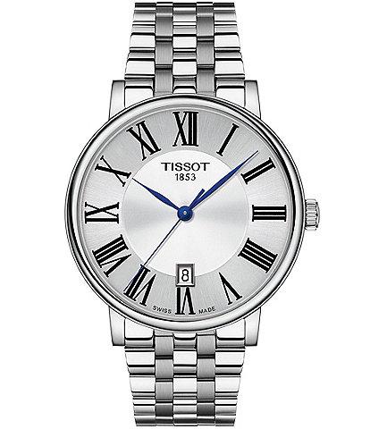 Tissot Men's Carson Premium Stainless Steel Silver Dial Bracelet Watch