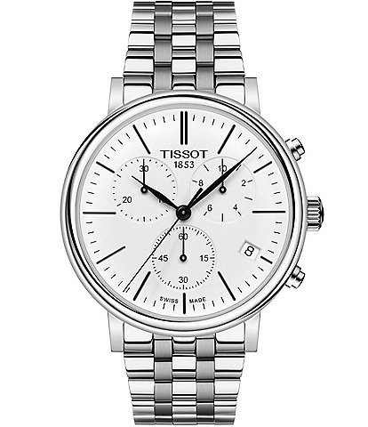 Tissot Men's Carson Premium Stainless Steel Chronograph Bracelet Watch