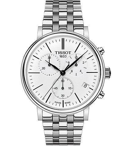 Tissot Men's Carson Premium Stainless Steel Chronograph Bracelet Watch