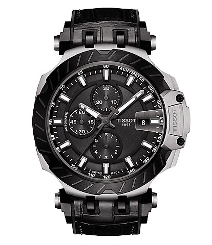 Tissot Men's T-Race Automatic Chronograph Black Dial Watch