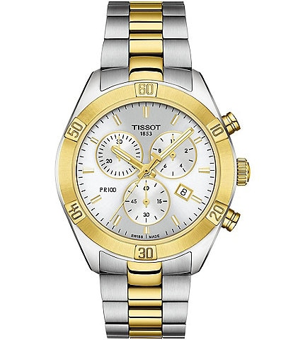 Tissot PR 100 Sport Chic Colorblock Chronograph Watch