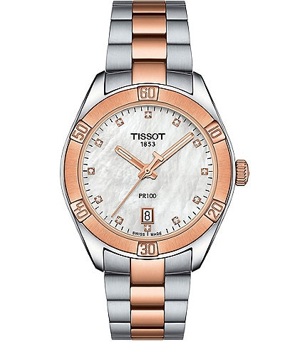 Tissot PR 100 Sport Chic Two-Tone Watch