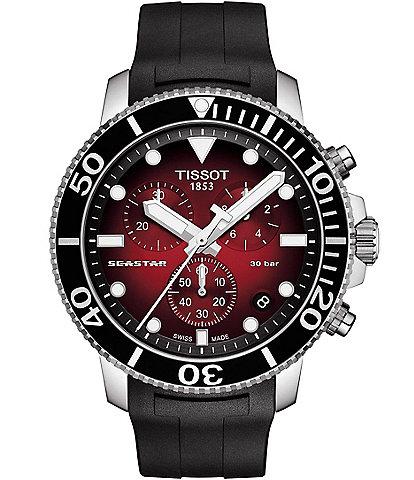 Tissot Seastar 1000 Chronograph Red Dial Watch