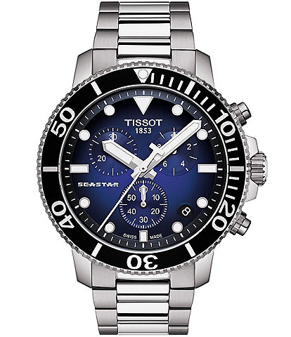 Tissot Seastar 1000 Blue Dial Chronograph Watch
