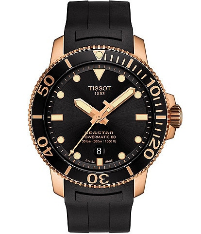 Tissot Seastar 1000 Powermatic 80 Black and Rose Gold Watch