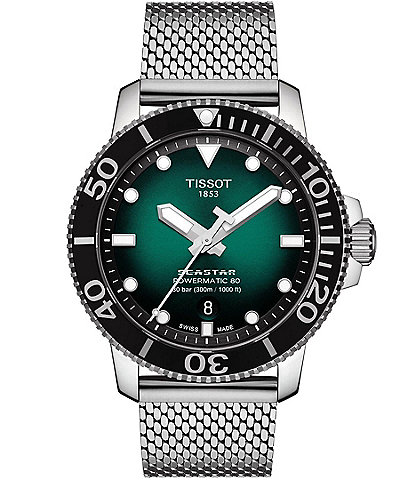 Tissot Seastar 1000 Powermatic 80 Green Dial Watch