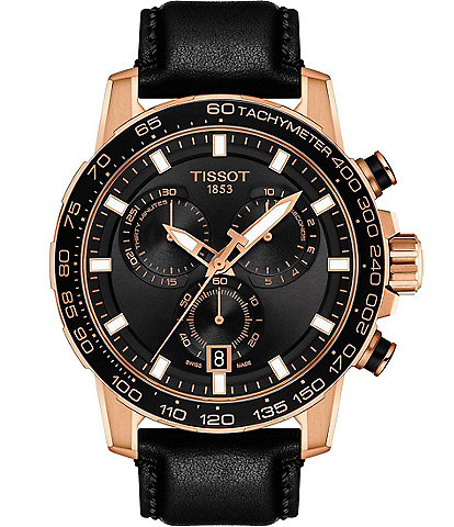Tissot Supersport Chrono Black and Rose Gold Watch