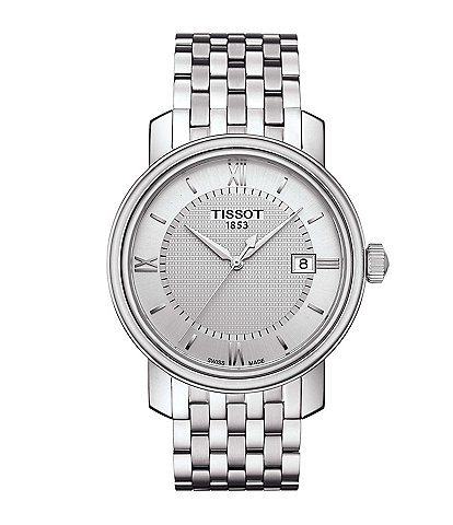 Tissot T-Classic Bridgeport Analog & Date Bracelet Watch