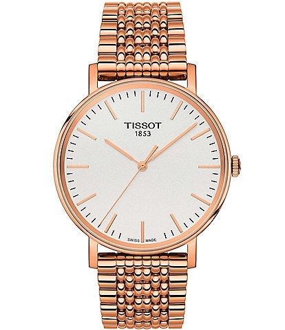 Tissot T-Classic Everytime Rose Gold Analog Bracelet Watch