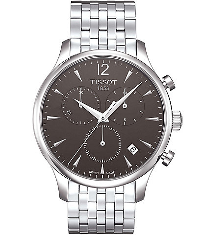 Tissot T-Classic Tradition Chronograph & Date Bracelet Watch