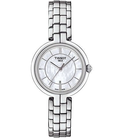 Tissot T-Lady Flamingo Mother-of-Pearl Analog Bracelet Watch