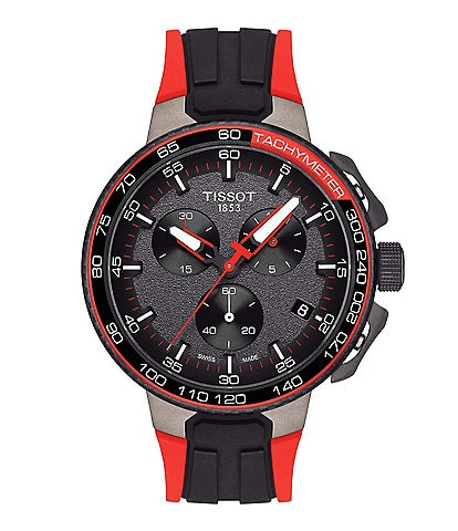 Tissot T-Race Vuelta Chronograph & Date Rubber-Strap Watch