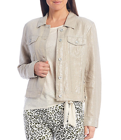 Tommy Bahama 2 Palm Foil Linen Jacket