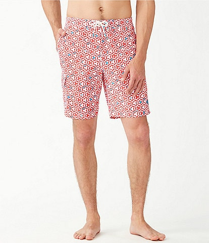 Tommy Bahama Baja Kaleidocope Cay 9#double; Inseam Board Trunks