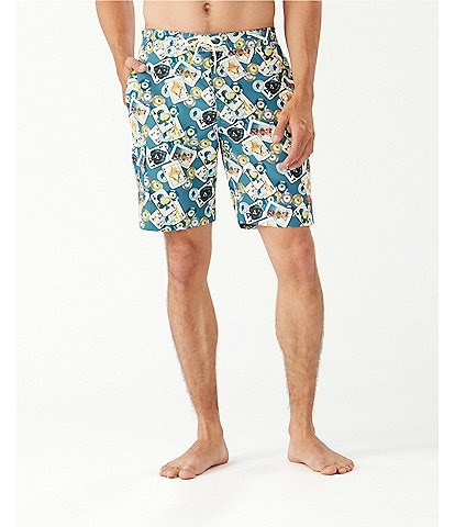Tommy Bahama Baja Stack The Deck 9#double; Inseam Board Trunks