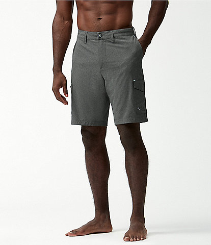 Tommy Bahama Big & Tall 10#double; and 11#double; Inseam Cayman Isles Cargo Hybrid Board Shorts