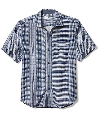 Tommy Bahama Big & Tall Bay Street Blues Short-Sleeve Woven Shirt