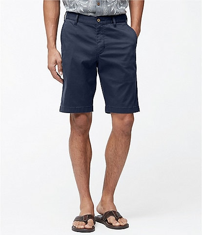 Tommy Bahama Big & Tall Boracay Flat Front 9#double; and 10#double; Inseam Shorts