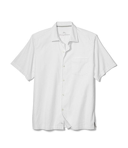 Tommy Bahama Big & Tall Catalina Stretch Twill Short-Sleev Woven Shirt