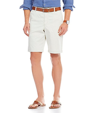 Tommy Bahama Big & Tall Flat-Front Straight-Fit Stretch Sateen 10#double; and 13#double; Inseam Boracay Shorts