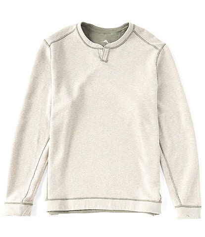 Tommy Bahama Big & Tall Flipshore Abaco Reversible Split-Neck Crew Pullover