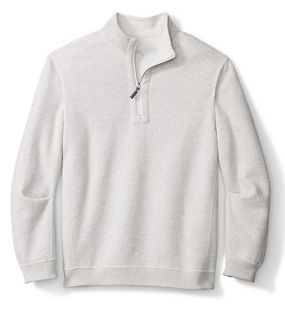 Tommy Bahama Big & Tall Flipshore Half-Zip Reversible Pullover