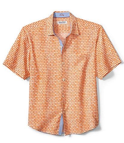 Tommy Bahama Big & Tall IslandZone Coconut Point Fade Away Geo Short-Sleeve Woven Shirt