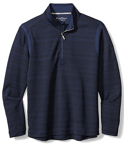 Tommy Bahama Big & Tall Tidal Stripe Half-Zip Pullover