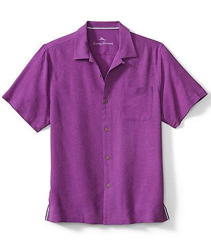 Tommy Bahama Big & Tall Solid Tropic Isle Silk Short-Sleeve Woven Shirt