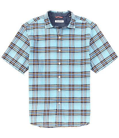 Tommy Bahama Bondi Beach Plaid Short-Sleeve Woven Shirt