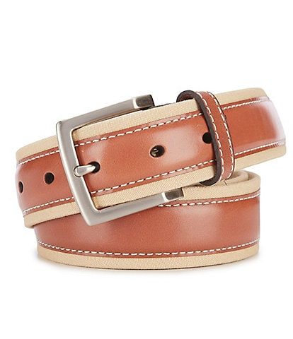 Tommy Bahama Canvas Leather Overlay Casual Belt
