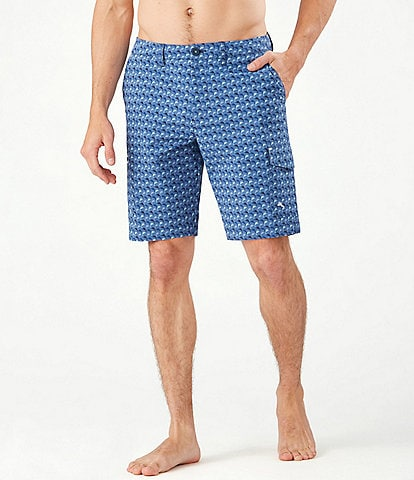 Tommy Bahama Cayman Marlin Mingle 9#double; Inseam Hybrid Shorts