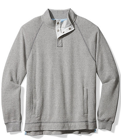 Tommy Bahama Cedar Springs Snap Mock Long-Sleeve Pullover