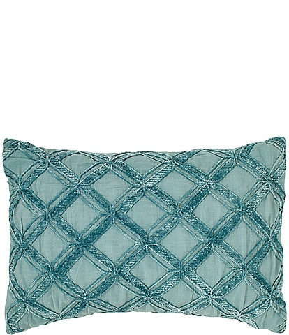 Tommy Bahama Chenille Diamond Pillow