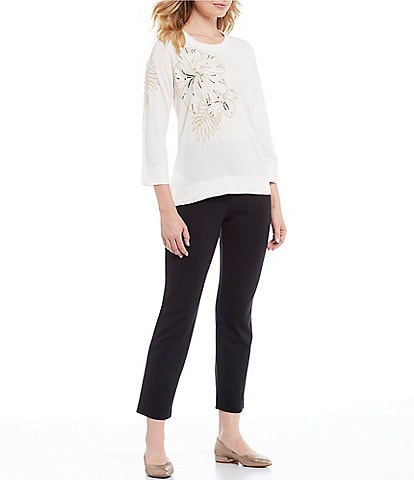 Tommy Bahama Embellished Hibiscus Cashmere Blend Pullover