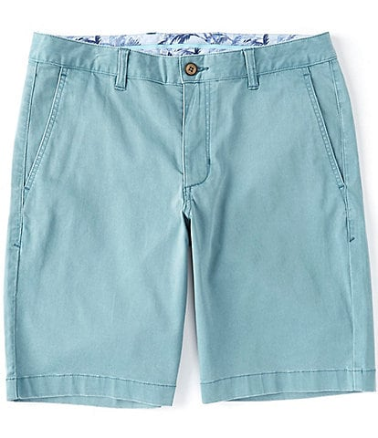 "Tommy Bahama Flat-Front Straight-Fit Stretch Sateen 10"" Inseam Boracay Shorts"