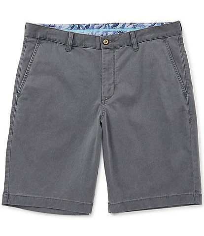 Tommy Bahama Flat-Front Straight-Fit Stretch Sateen 10#double; Boracay Shorts