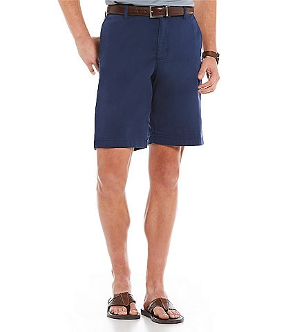 Tommy Bahama Flat-Front Straight-Fit Stretch Sateen 10#double; Inseam Boracay Shorts