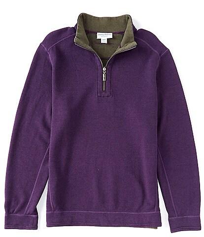 Tommy Bahama Flipshore Half-Zip Reversible Pullover