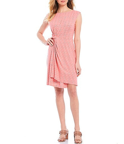 Tommy Bahama Goa Boa Side Twist Sleeveless Dress