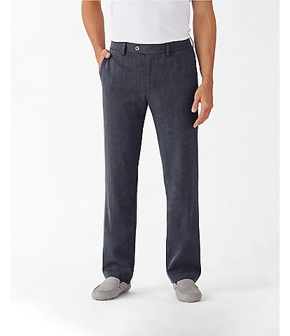 Tommy Bahama Havana Herringbone Flat-Front Pants