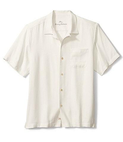 Tommy Bahama Hawaiian Herringbone Silk Short-Sleeve Woven Shirt