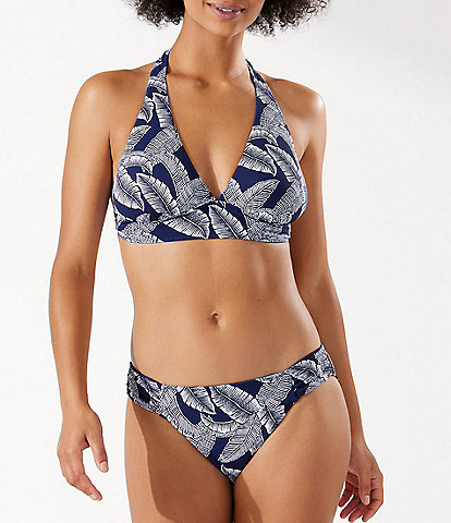 Tommy Bahama Island Cays Palms Reversible Halter Swim Top & Reversible Hipster Swim Bottom