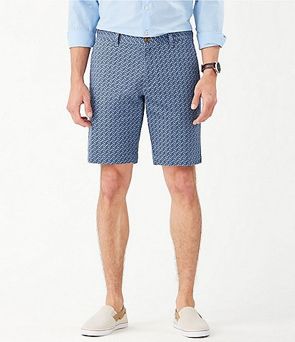 Tommy Bahama Island Chevron Stretch 10#double; Inseam Shorts