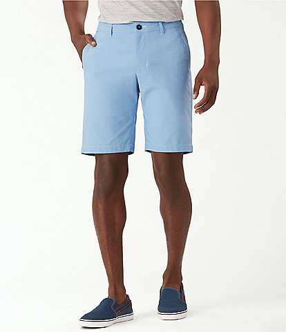 Tommy Bahama IslandZone Chip Shot Oxford 10#double; Inseam Shorts